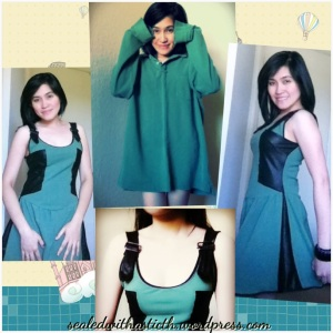 Turn your man's old jumper into a stylish skater dress!